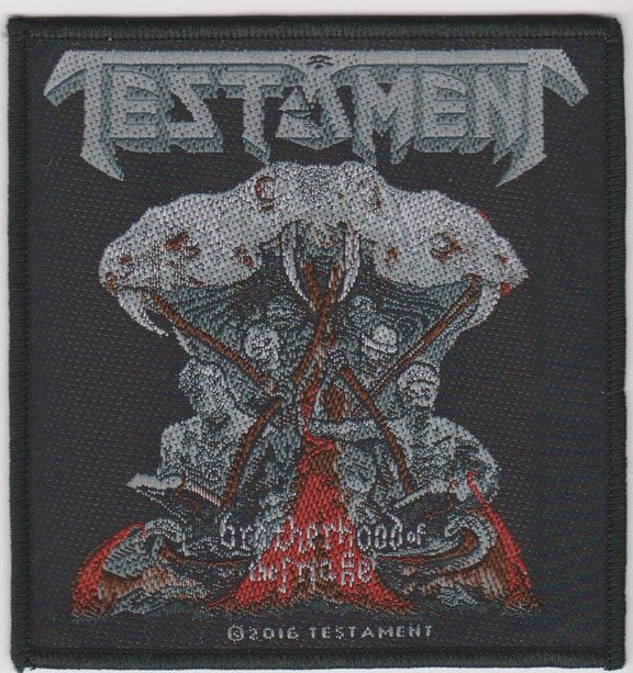 Testament Sew On Patch Brotherhood Of The Snake