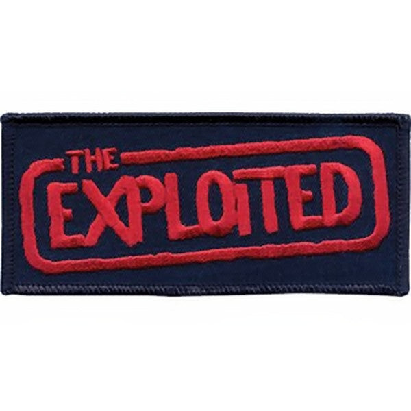 The Exploited Iron-On Patch Red Letters Logo