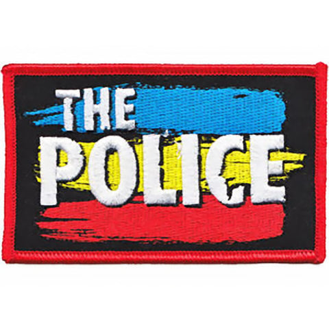 The Police Iron-On Patch Striped Logo
