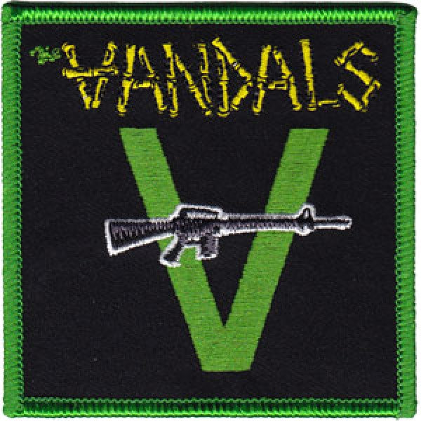 The Vandals Iron-On Patch Square Machine Gun Logo