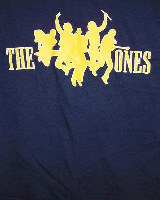 The Ones T-Shirt Yellow Logo Navy Blue Size Small