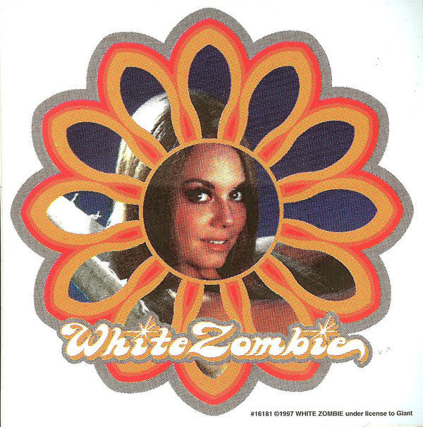 White Zombie Vinyl Sticker Super Sexy Flower Logo