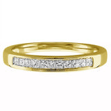 1/4 CT. T.W. Princess-Cut Diamond Wedding Band in 14K White Gold, RINGS, JewelMORE.com  - JewelMORE.com