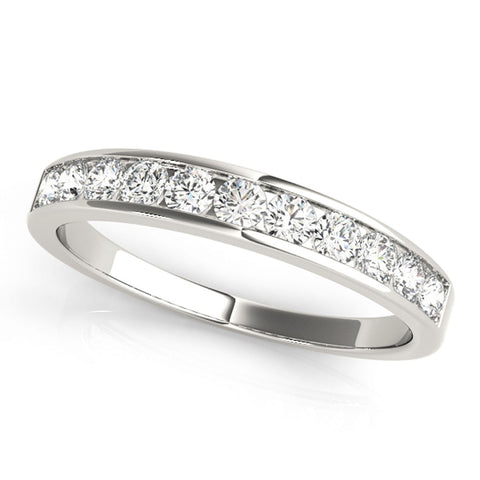 JewelMore™ 1/2ct TDW Diamond Anniversary Band  in 14kWhite Gold, Yellow Gold or Rose Gold (I-J, I2-I3), RINGS, JewelMORE.com  - JewelMORE.com