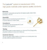 LuxLock World's most secure USA Patented Replacement Earring Back in 925 Sterling Silver, , JewelMORE.com  - JewelMORE.com