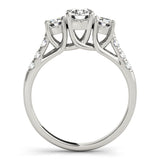 14k White Gold 3 stone Engagement Ring (0.25 carat, I-J Color, I1-I2 Clarity), Engagement, Ring, JewelMORE.com  - JewelMORE.com