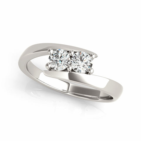 "I Love Us™  Two-Stone Ring 1 ct tw Diamonds 14K White Gold  ""My Best Friend is My True Love™""  H-I / I2, RINGS, JewelMORE.com  - JewelMORE.com"