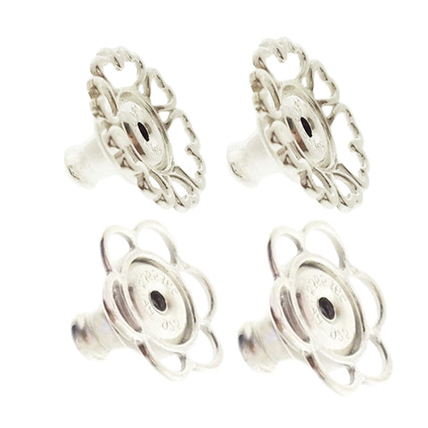 World's most secure Patented Replacement Earring Back in .925 Silver, EARRINGS, JewelMORE.com  - JewelMORE.com