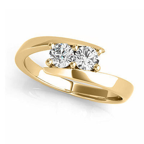 "I Love Us™  Two-Stone Ring 1/2 ct tw Diamonds 14K Yellow Gold  ""My Best friend is My true love™"", RINGS, JewelMORE.com  - JewelMORE.com"