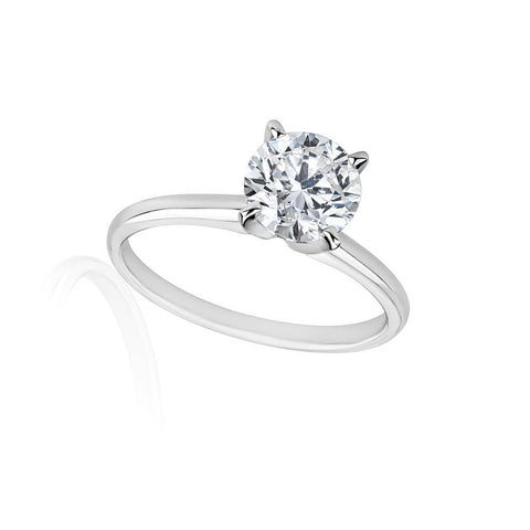 3/4 Carats Solitaire Diamond Engagement Ring GH/SI1-SI2 14K Yellow Gold or White Gold, RINGS, JewelMORE.com  - JewelMORE.com