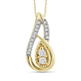 "I Love Us™ Two-Stone Diamonds Teardrop Pendant 1/7 ct tw 14K White Gold or Yellow Gold  ""My Best friend is My true love™"", SALE, JewelMORE.com  - JewelMORE.com"