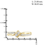 "I Love Us™ Two-Stone Ring 1/7ct tw Diamonds 14K White Gold or Yellow Gold  ""My Best friend is My true love™"", RINGS, JewelMORE.com  - JewelMORE.com"