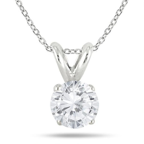 Diamond solitaire pendants jewelmore 12 carats solitaire diamond pendant with chain ghi1 i2 14k yellow mozeypictures Image collections
