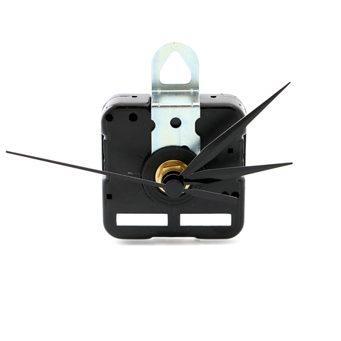 Gager Quartz Clock Movements Mechanism Parts, 3/25 Inch Maximum Dial Thickness, 6mm Thread shaft length, 12mm Total Shaft Length