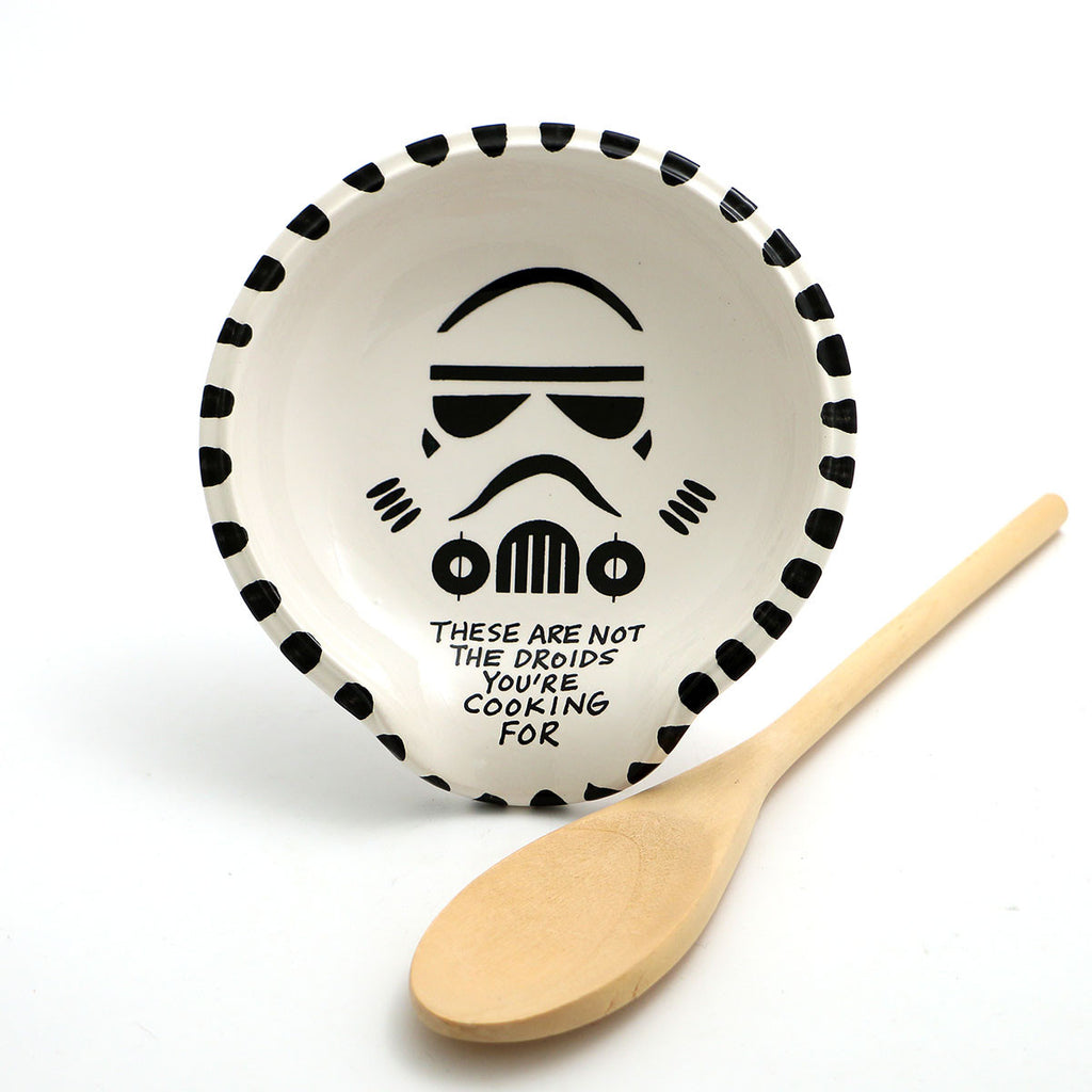 "Star Wars spoon rest , stormtrooper - not the droids you're cooking forIf you are not going to ""use"