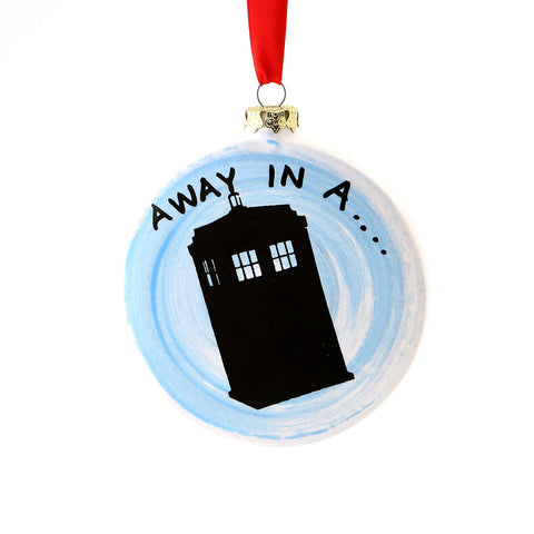 Dr. Who Away in a Tardis Ornament