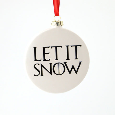 Game of Thrones Let it Snow Direwolf Ornament