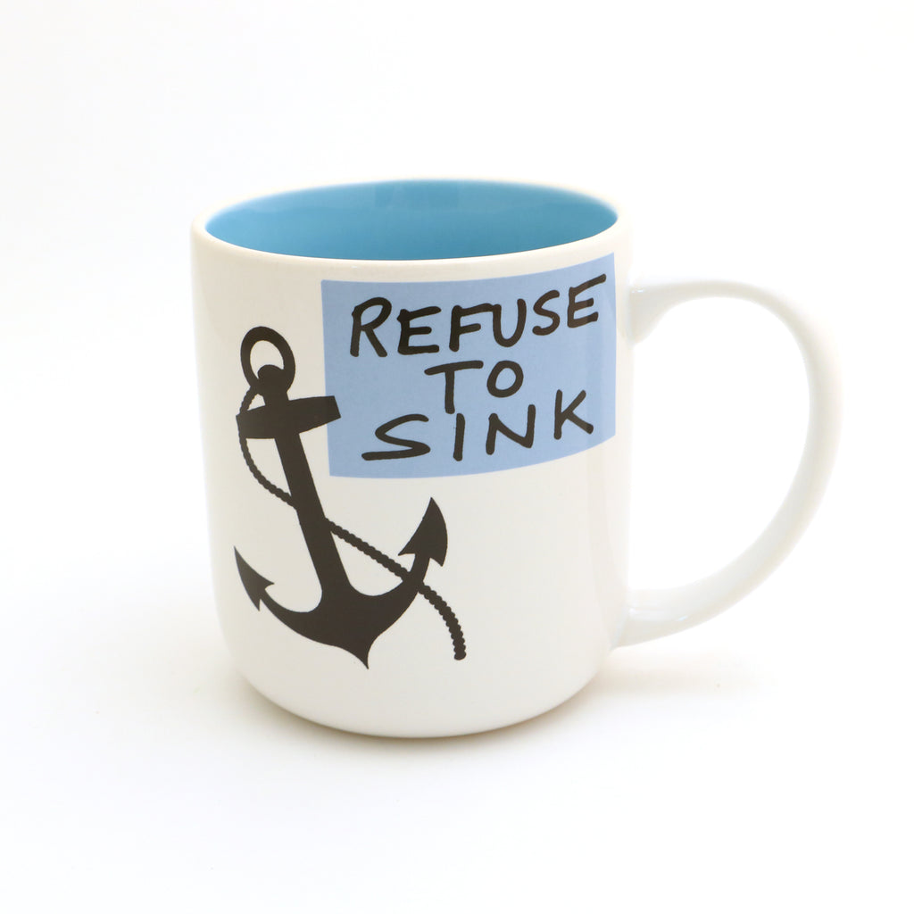 Refuse to Sink Mug, Hope Anchors the Soul, Anchor Mug
