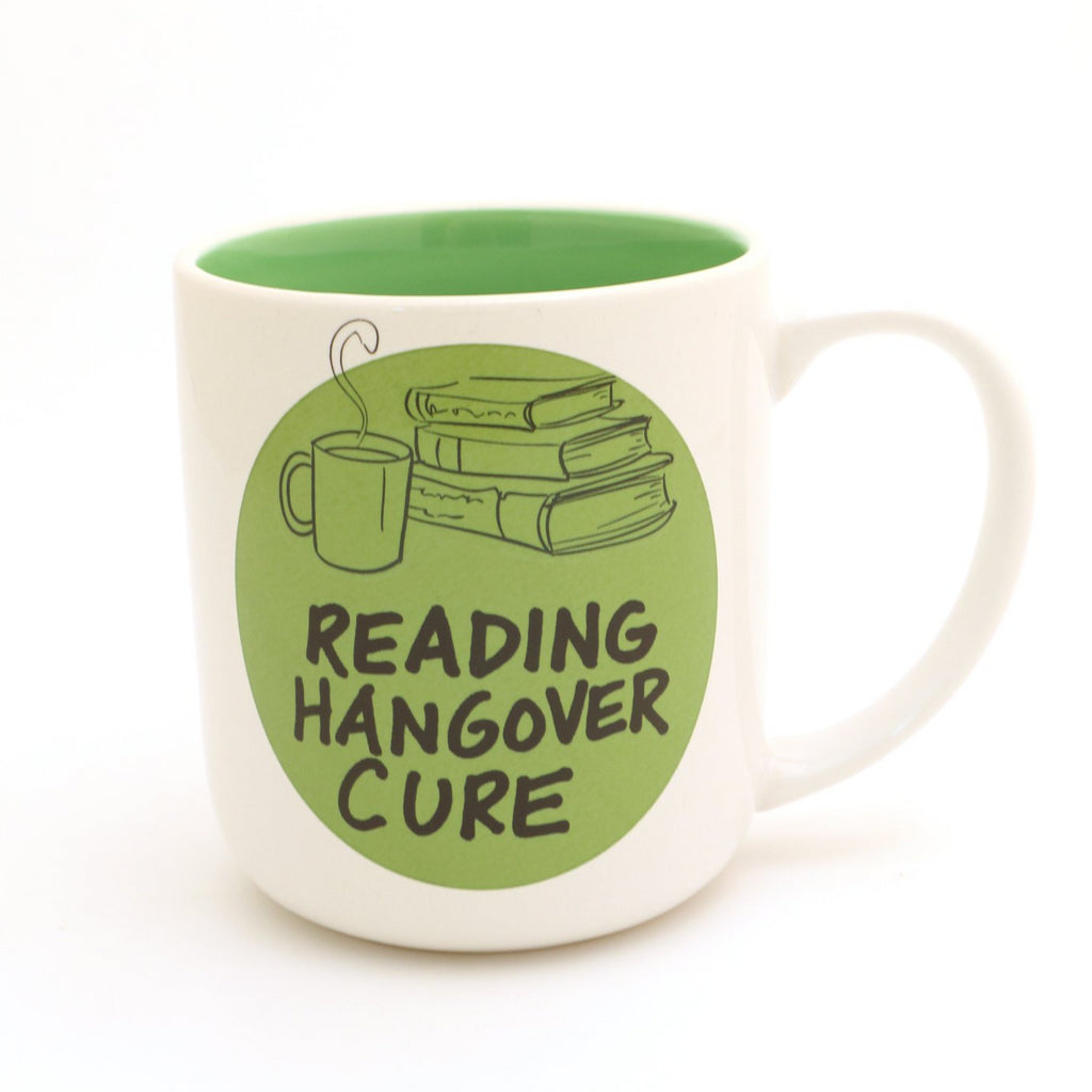Reading hangover cure mug, gift for book lover or reader