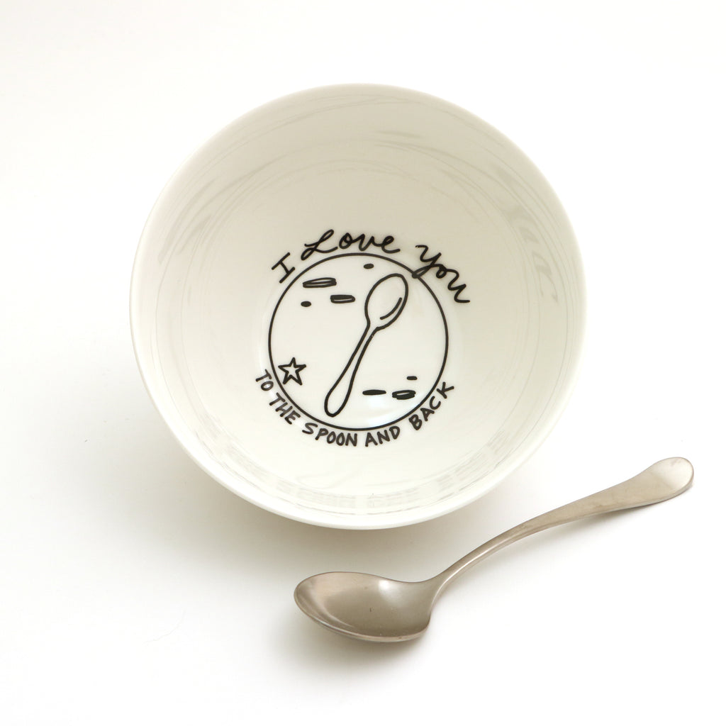 I Love You to the Spoon and Back Cereal Bowl, Porcelain Bowl