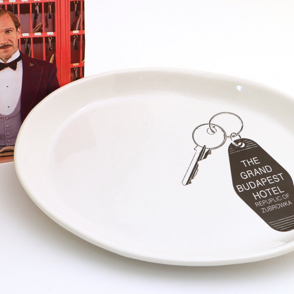 The Grand Budapest Hotel keychain key plate