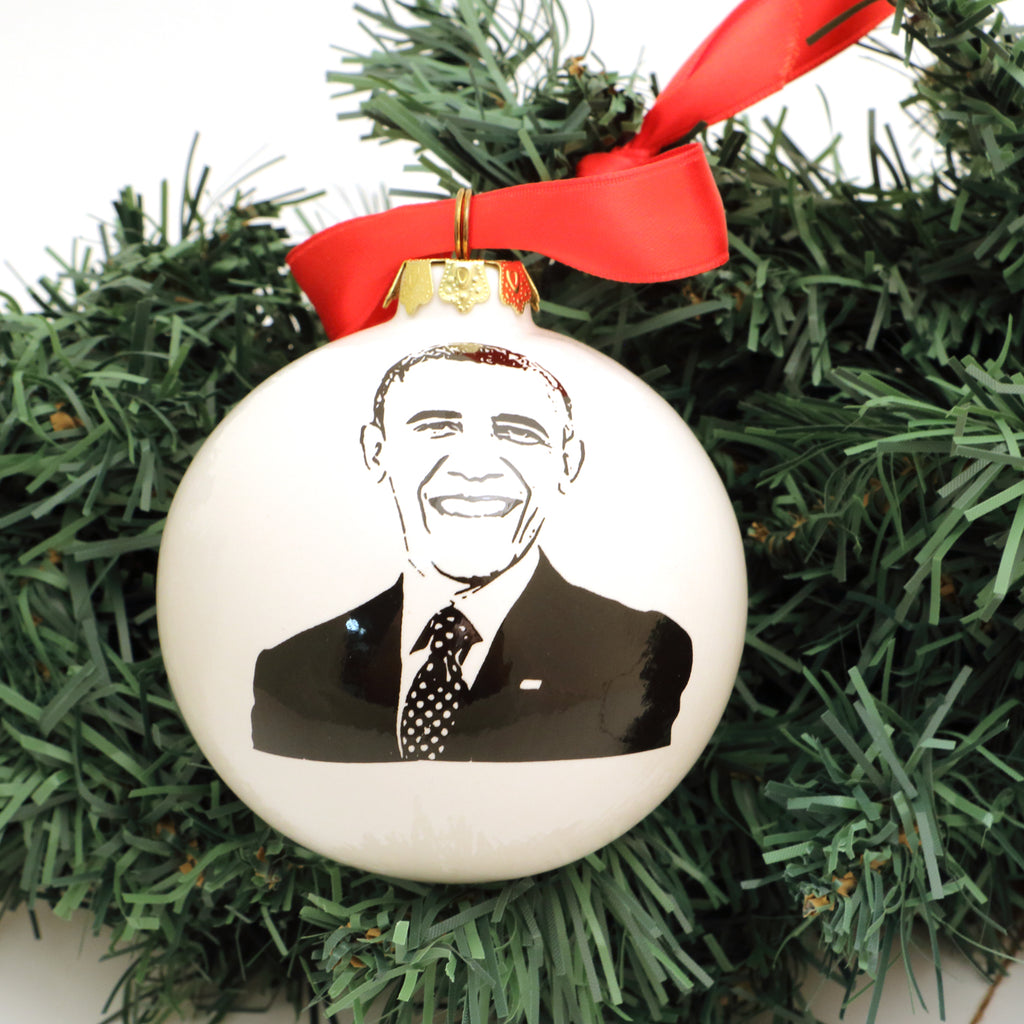 The Obamas, Barack and Michelle Obama, Christmas ornament