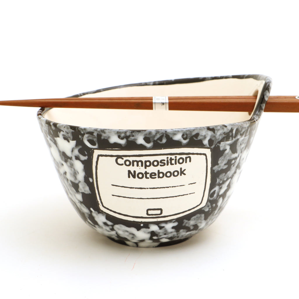 Composition Notebook Chopstick Bowl, Noodle Bowl, Can Be Personalized