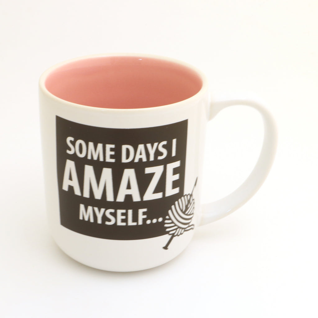 Crochet mug, I amaze myself,  funny gift for someone who crochets