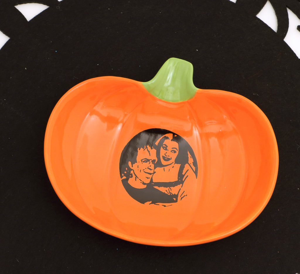 The Munsters, Pumpkin dish, Halloween, spoon rest, soap dish, trinket dish