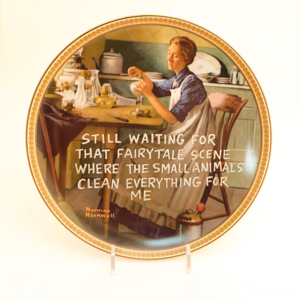 Still Waiting For That Fairytale plate, Dirty Dishes Collection