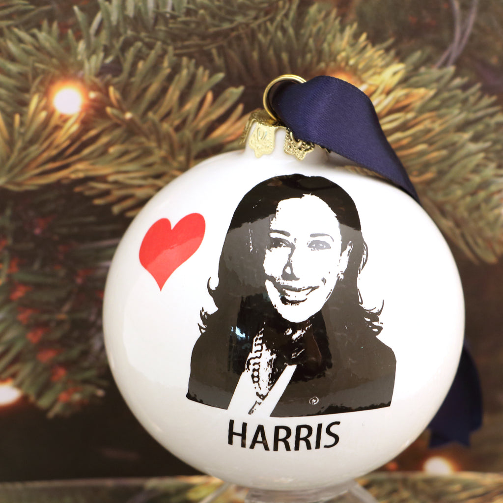 Kamala Harris Christmas ornament