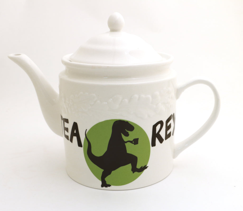 Tea Rex teapot, upcycled teapot, Extra Large