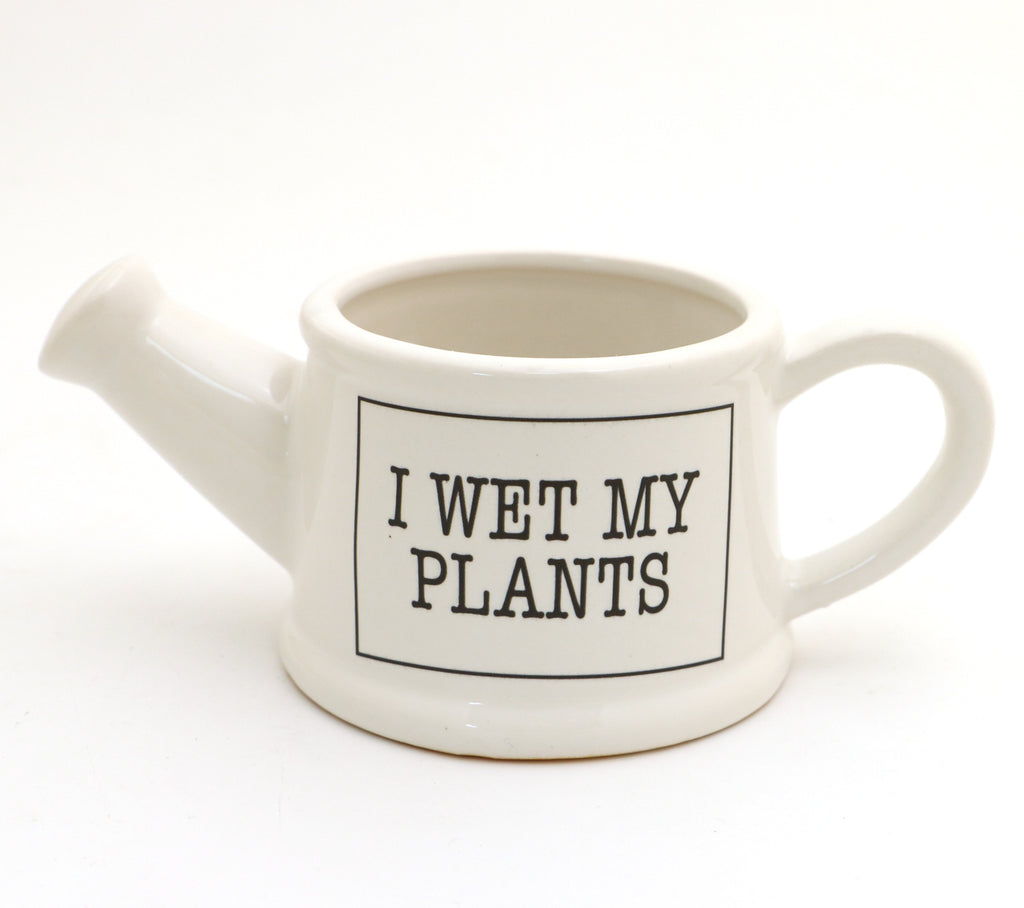 Planter, I Wet my Plants, Watering can shaped, small planter