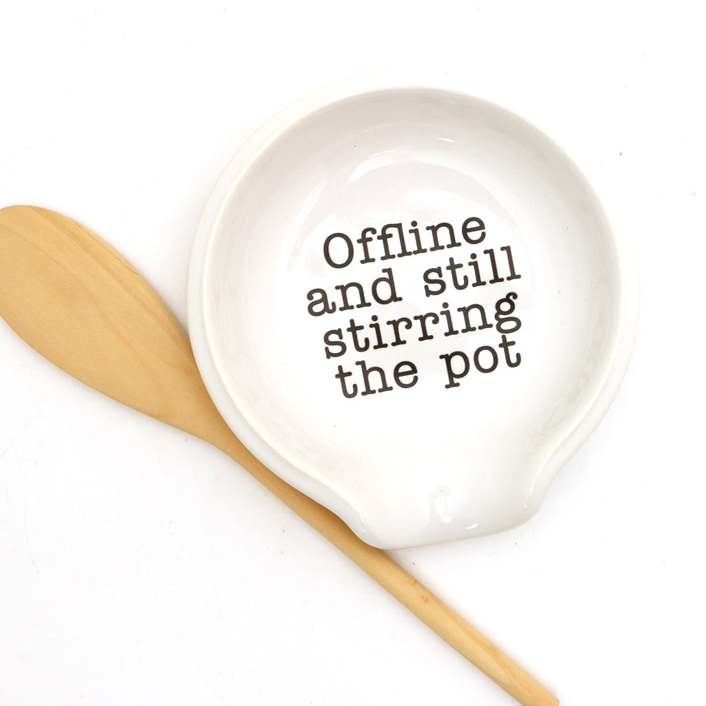 Stirring the Pot spoon rest, funny gift, social media - facebook