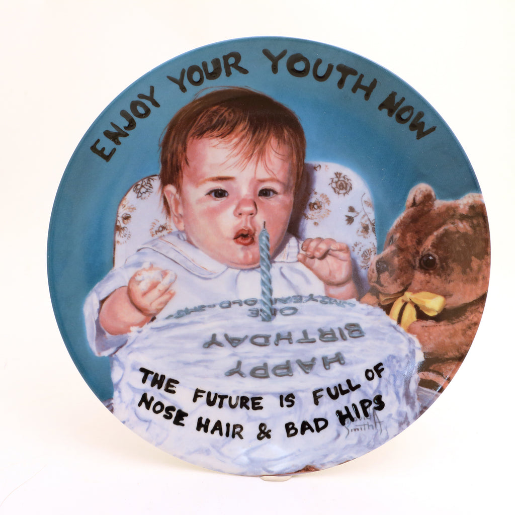 Enjoy your Youth, Birthday cake plate, Dirty Dishes Collection