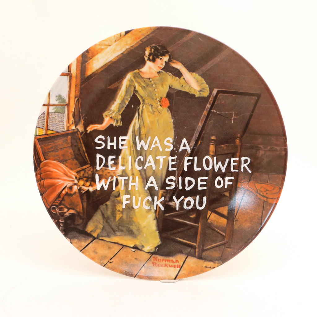 Delicate Flower with a side, mature language,  Dirty Dishes Collection