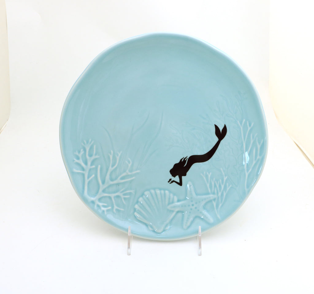 Mermaid platter, Beach Nautical gift