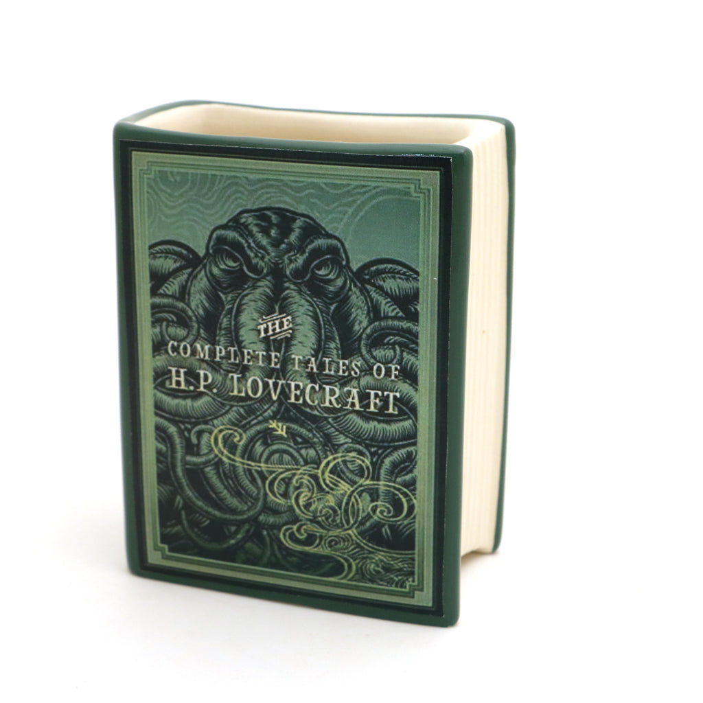 H.P. Lovecraft book pencil holder, vase, gift for reader, wizard of oz