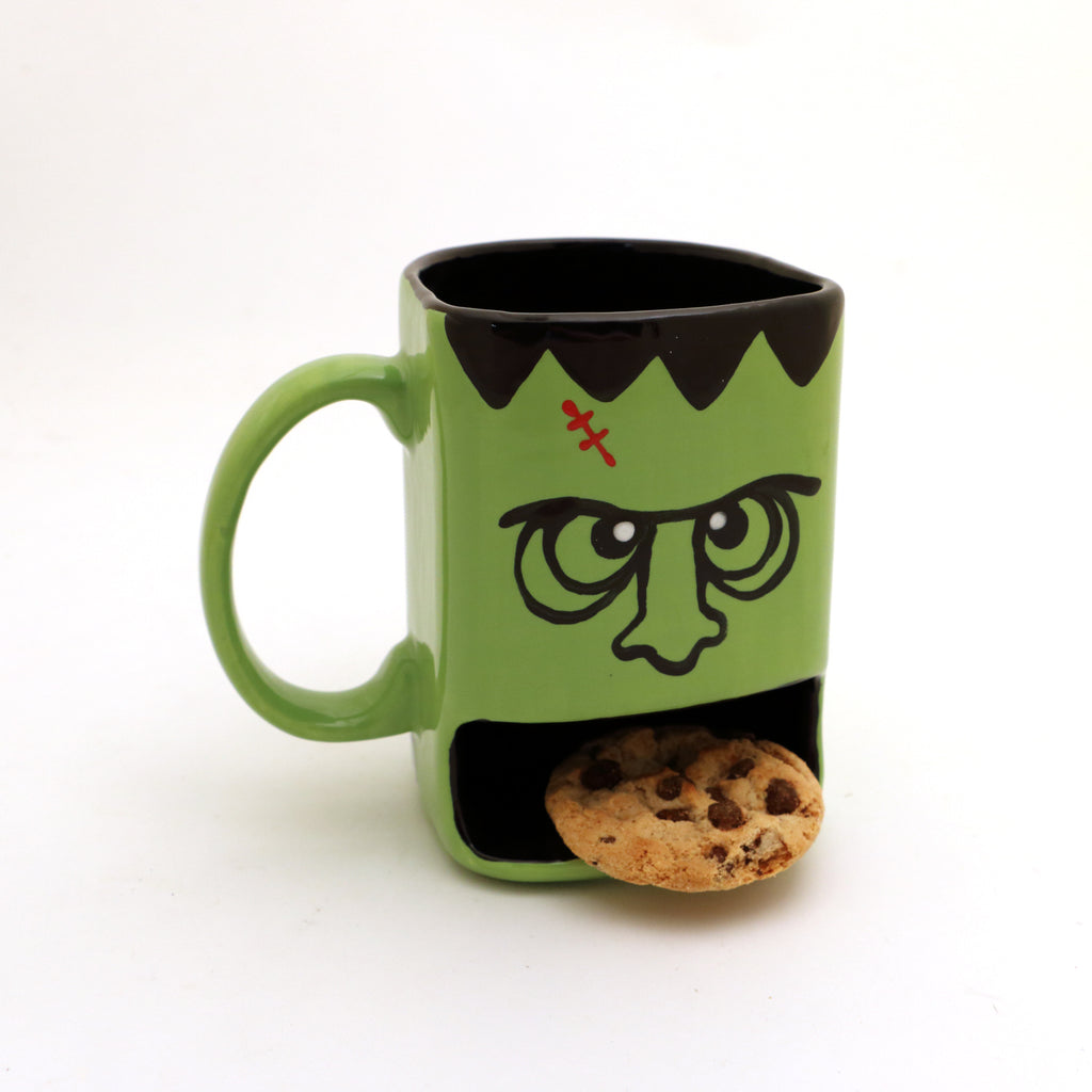 Frankenstein monster dunk mug, cookie mug, Halloween gift