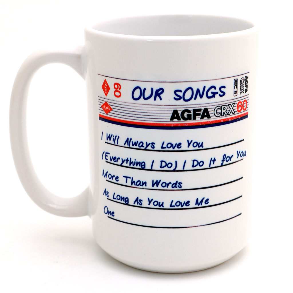 Personalized mug- I made you a mix tape - Valentine's Day gift