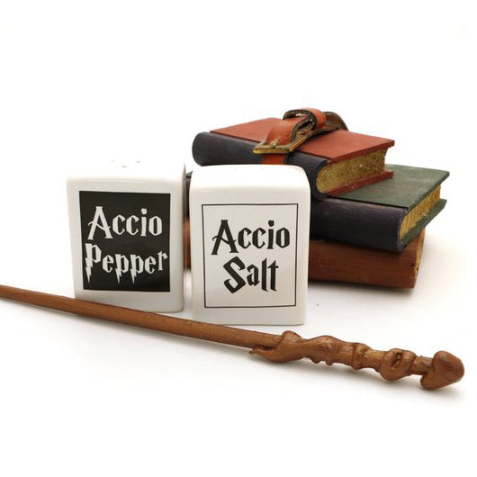 Accio Salt and Pepper shakers- great gift for a wizard loving cook or foodie- even if they are a m
