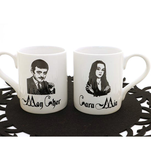 The Addams Family - Gomez and Morticia Mug Set