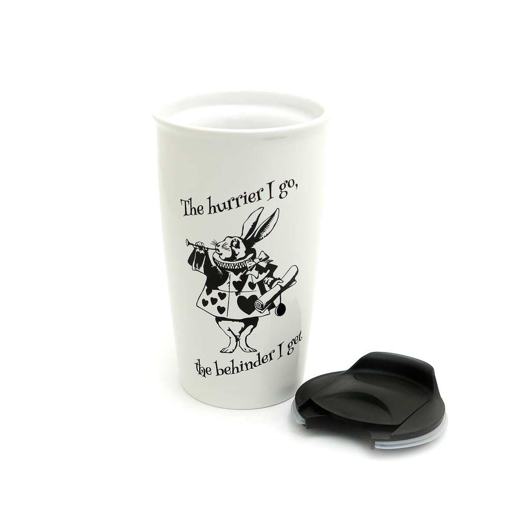 Alice in Wonderland White Rabbit Travel Mug