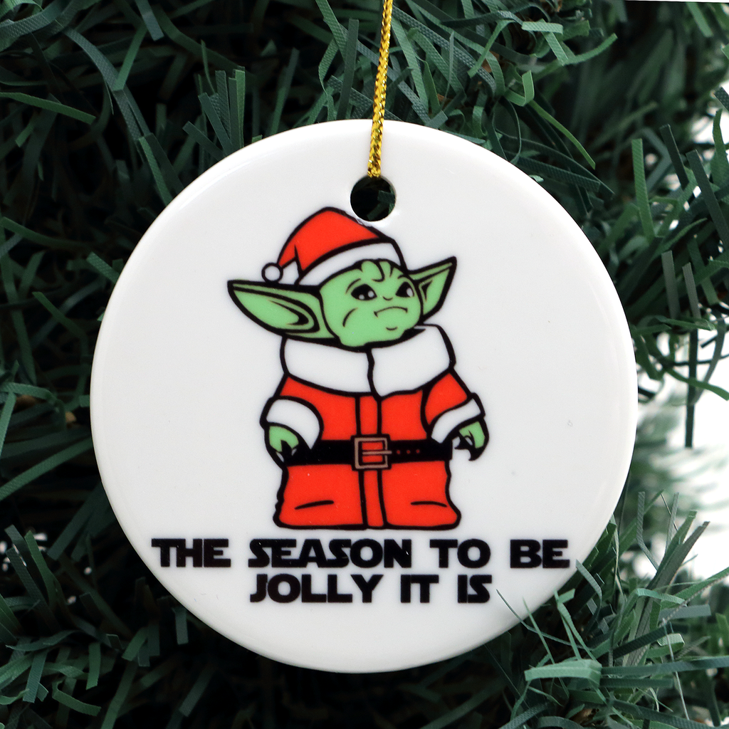 Baby Yoda Christmas Ornament