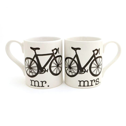 Mr. and Mrs. Bike Mug Set