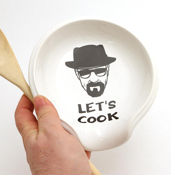 Breaking bad spoon rest Let's cook. Respect chemistry and your counter tops with this handmade sp