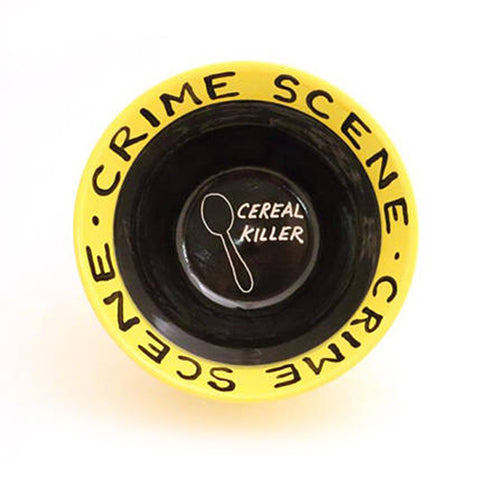 Crime Scene Cereal Killer Bowl