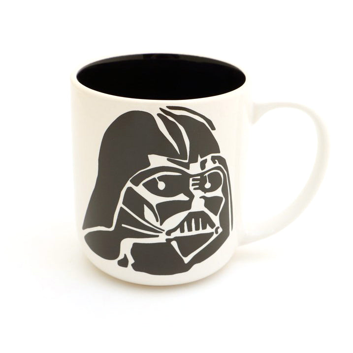 If you like your coffee on the dark side- this is the mug for you. Back reads: I FIND YOUR LACK OF