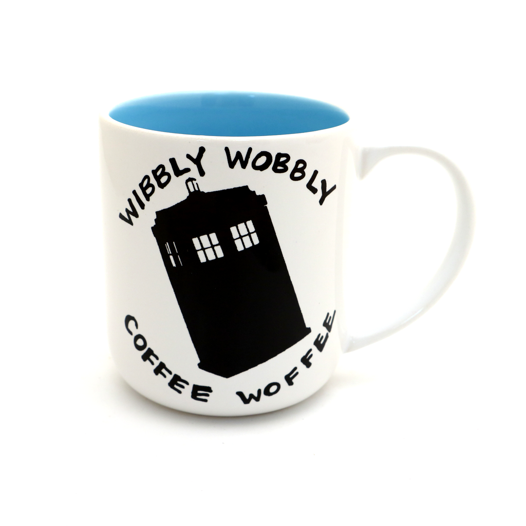 Doctor Who mug Wibbly Wobbly Coffee Woffee