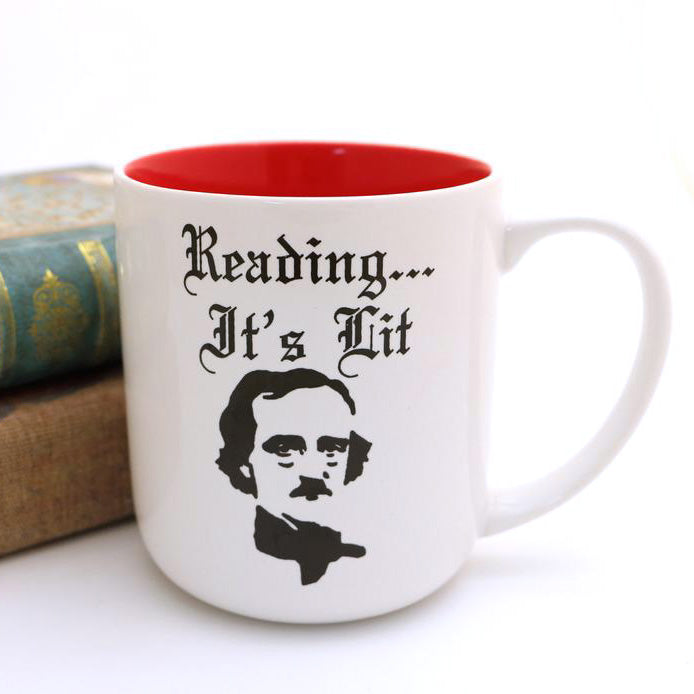 This Edgar Allan Poe mug makes a great gift for a reader, teacher, librarian -- or anyone who lov